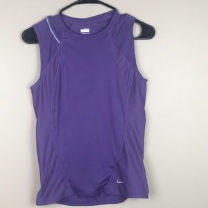 Purple Nike Fit Dry Workout sleeveless  Top